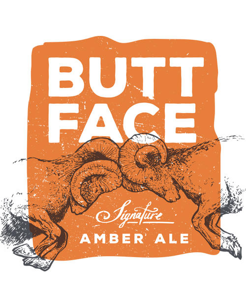 Butt Face signature amber ale