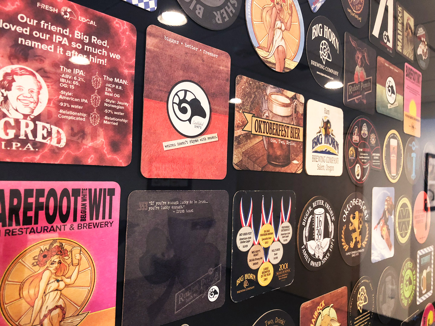 coaster wall display